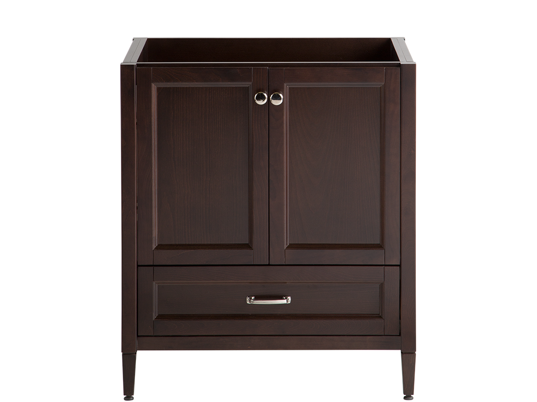 30 Claxby Vanity In Chocolate With 31 Oval Bowl Top In Avalon